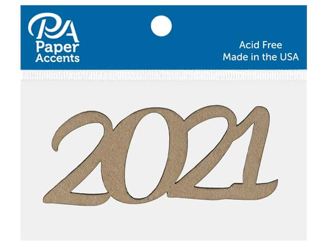 Paper Accents Chip Shape 4 in. 2021 Natural 8 pc