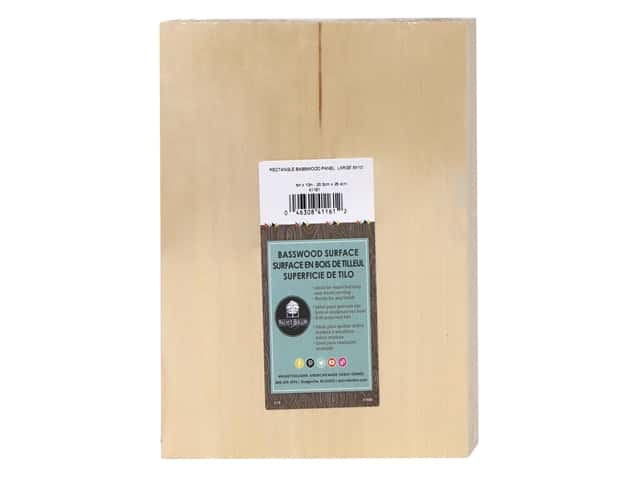 Walnut Hollow Wood Basswood Panel 8 in. x 10 in. Large Rectangle