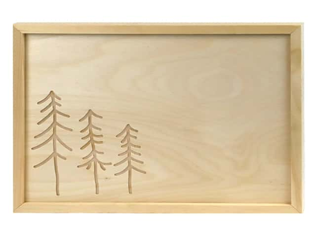 Walnut Hollow Wood Framed Sign Tree Rectangle 14 in. x 11 in.