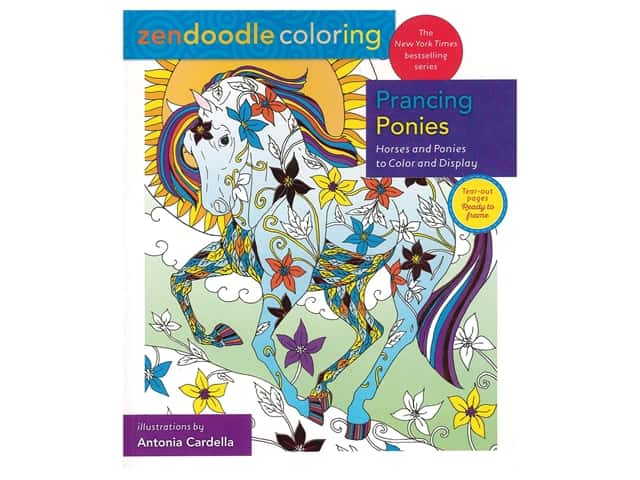 Castle Point Zendoodle Prancing Ponies Color Book