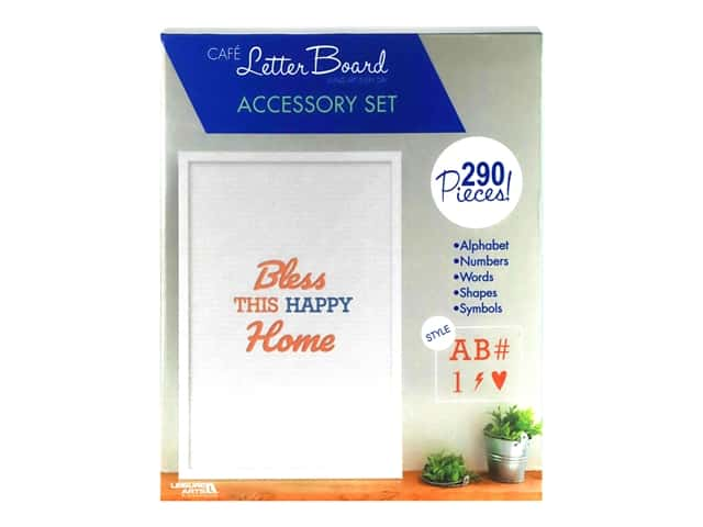 Leisure Arts Letter Board Accessory Set Blue/Coral