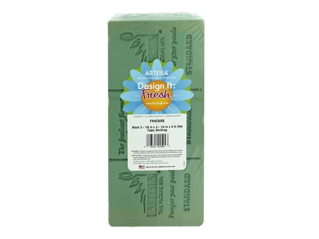 FloraCraft Wet Floral Foam 3 1/8 x 4 1/4 x 9 in. 1 pc.