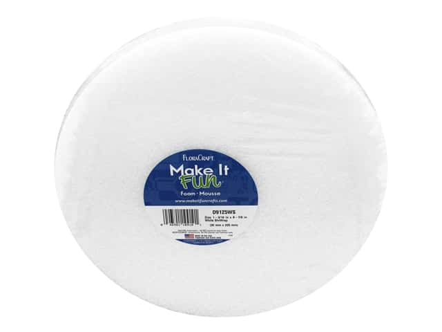 FloraCraft Styrofoam Disc - 8 7/8 x 1 3/16 White 1 pc.