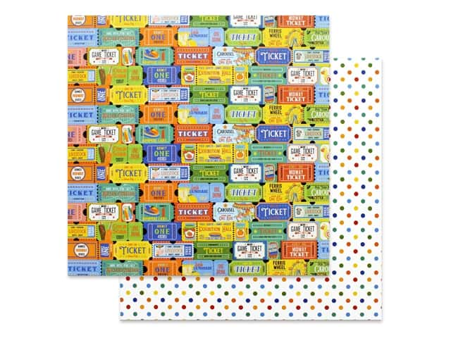 Photo Play 12 x 12 in. Paper State Fair Tickets