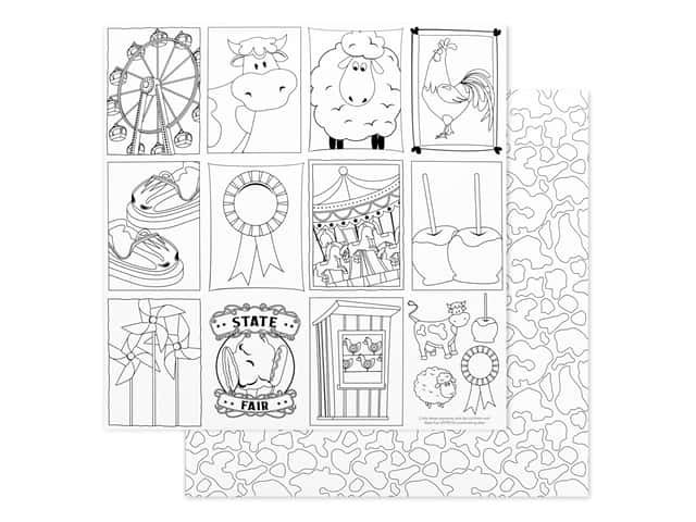 Photo Play 12 x 12 in. Paper State Fair Color Me Sheet