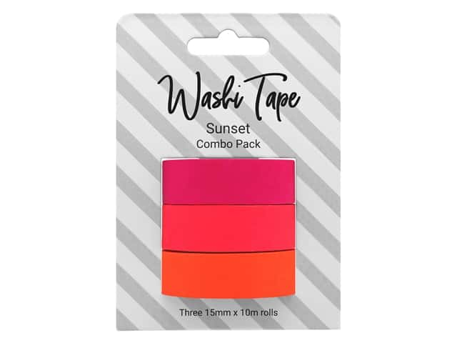 PA Essentials Washi Tape Combo Pack 3 pc. Sunset