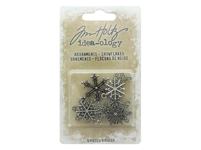 Tim Holtz Idea-ology Christmas Adornments Snowflakes
