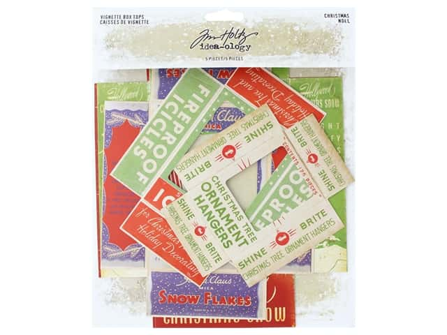 Tim Holtz Idea-ology Christmas Vignette Box Tops