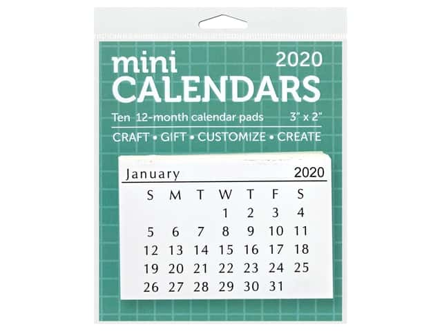 Paper Accents Calendar Mini Tear-Off 3 in. x 2 in. 10 sets 2020