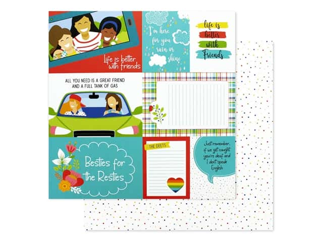 Photo Play 12 x 12 in. Paper Best Friends BFF