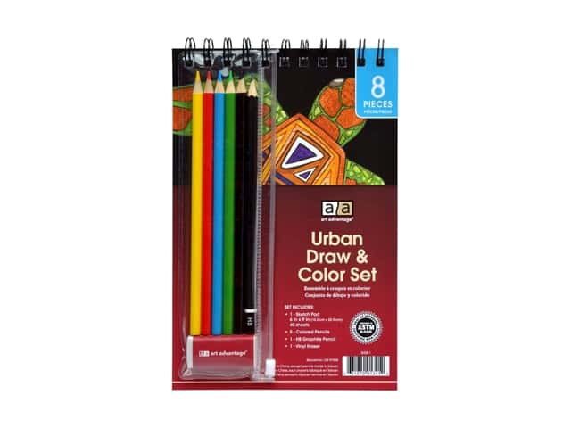 Art Advantage Urban Draw & Color Set