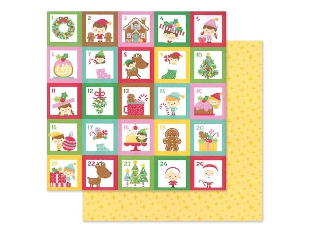 Doodlebug Collection Christmas Magic Paper 12 in. x 12 in.