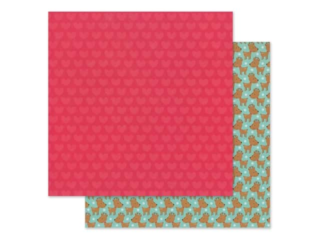 Doodlebug Collection Christmas Magic Paper 12 in. x 12 in. Christmas Love