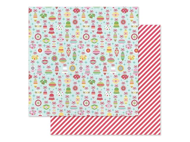 Doodlebug Collection Christmas Magic Paper 12 in. x 12 in. Deck The Halls