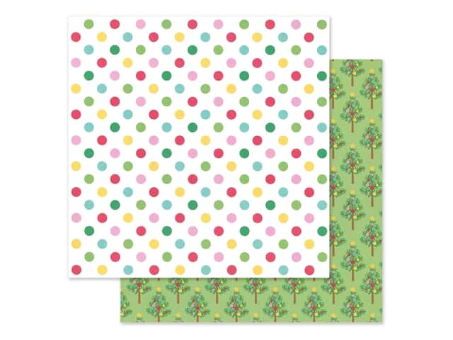 Doodlebug Collection Christmas Magic Paper 12 in. x 12 in. Jolly Holiday