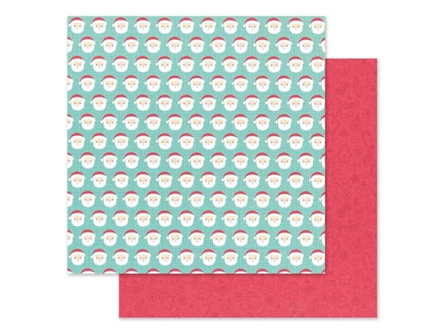 Doodlebug Collection Christmas Magic Paper 12 in. x 12 in. Jolly St Nick