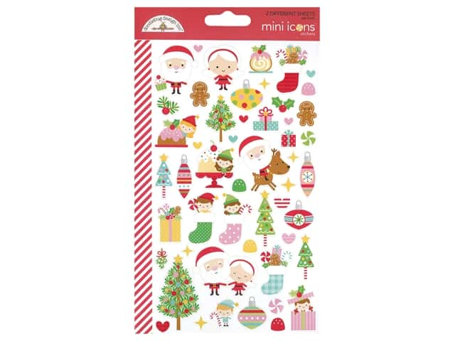 Doodlebug Collection Christmas Magic Sticker Mini Icons