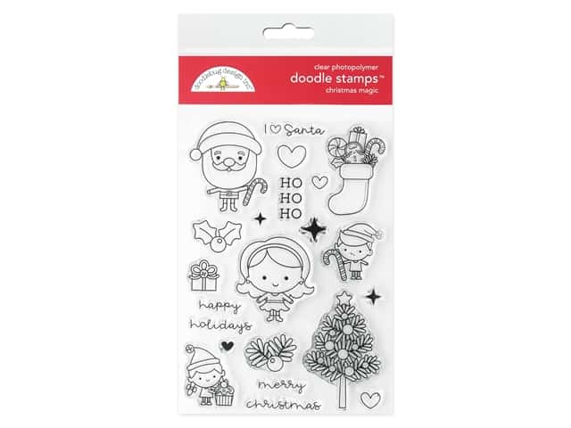 Doodlebug Collection Christmas Magic Doodle Stamp