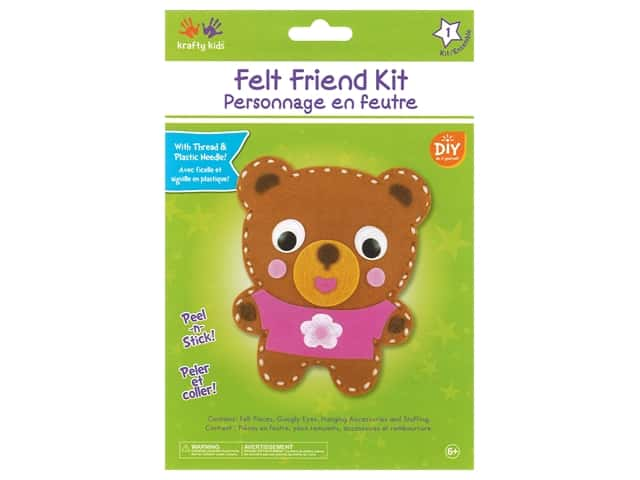 Multicraft Krafty Kids Felt Friends Kit Teddy Bear