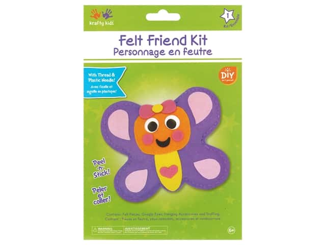 Multicraft Krafty Kids Felt Friends Kit Butterfly
