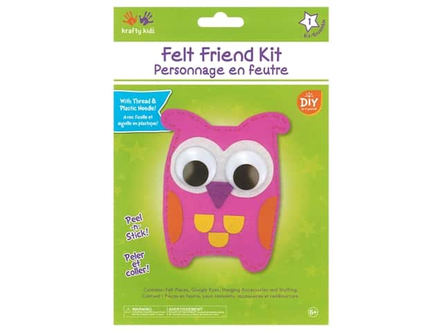 Multicraft Krafty Kids Felt Friends Kit Owl