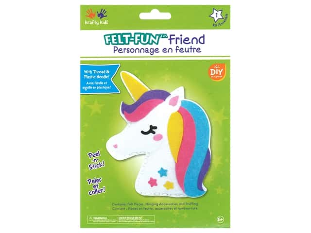 Multicraft Krafty Kids Felt Friends Kit Unicorn