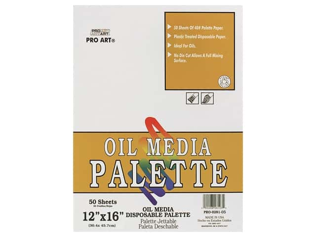 Pro Art Oil Media Disposable Palette Pad - 12 x 16 in. 50 pc.