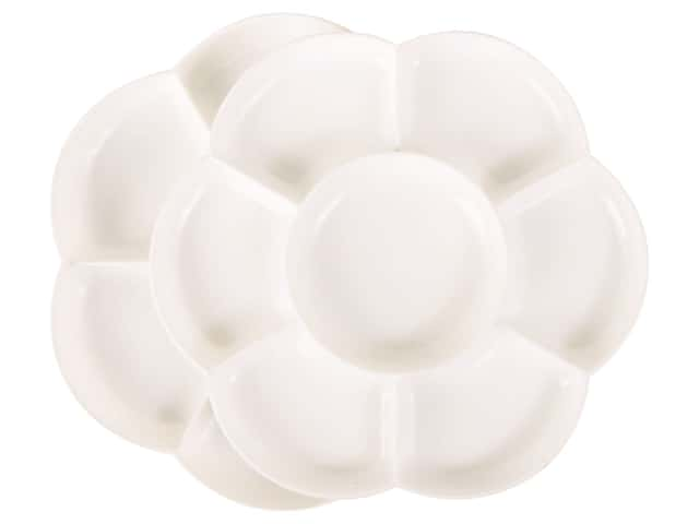 Pro Art Palette Plastic Mixing Double Dish Flower