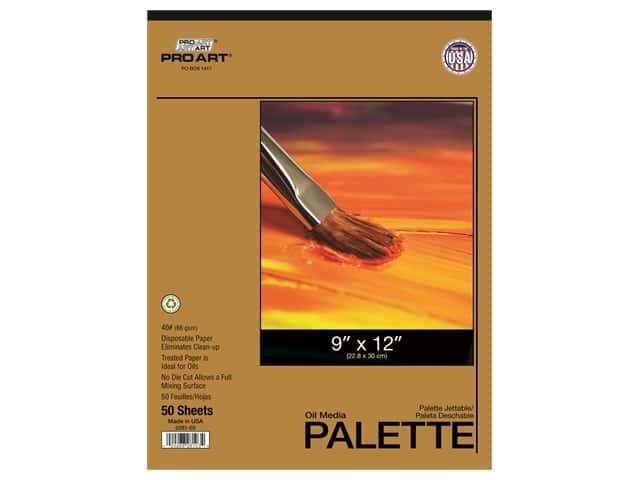 Pro Art Oil Media Disposable Palette Pad - 9 x 12 in. 50 pc.