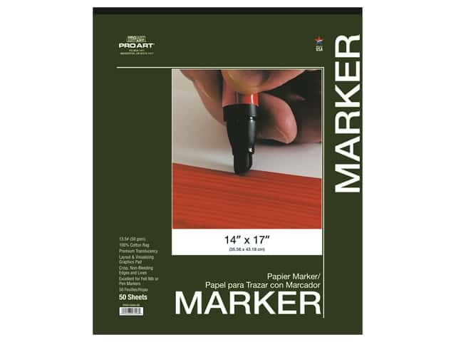 Pro Art Drawing Paper Marker Pad 14 in. x 17 in.  50 pc