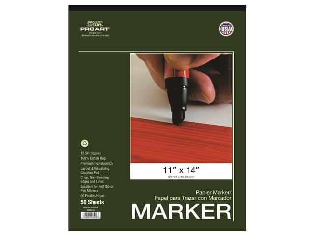 Pro Art Drawing Paper Marker Pad 11 in. x 14 in. 50 pc
