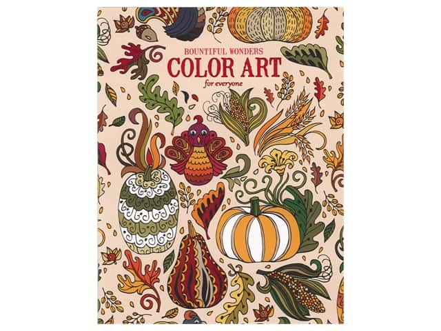 Leisure Arts Bountiful Wonders Color Art For Everyone Coloring Book
