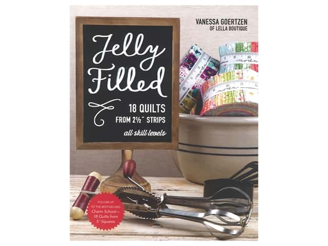 Stash By C&T Jelly Filled 18 Quilts From 2.5 in. Strips Book