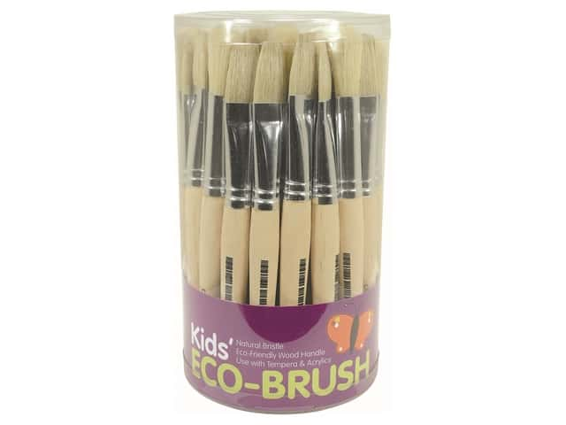 Art Advantage Brush .5 in. Stubby Flat/Round Assortment 36 pc Tub