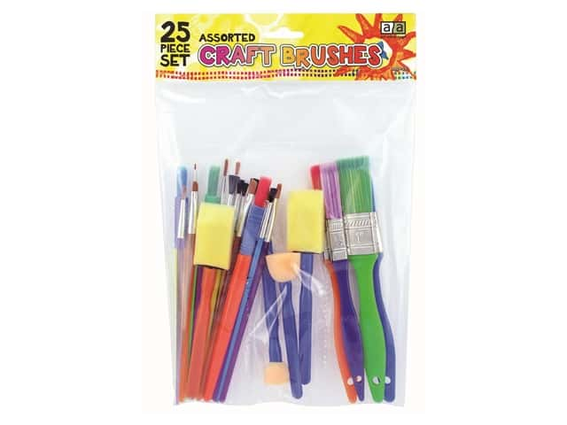 Art Advantage Assorted Craft Brushes 25 pc.