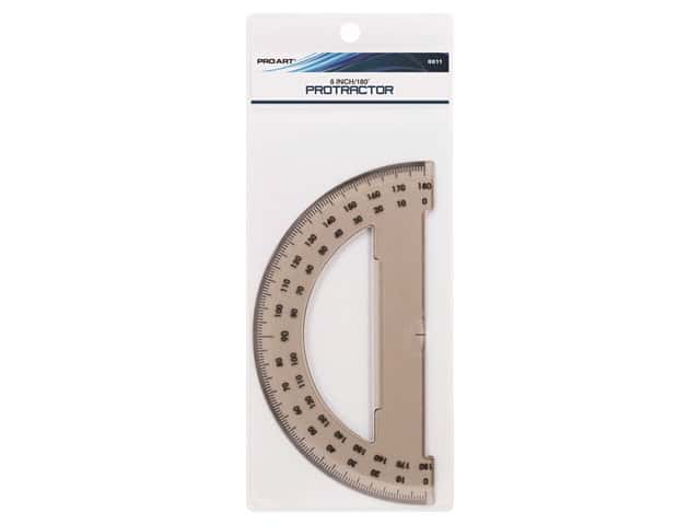 Pro Art Drafting Protractor 180 Degree 6 in. Smoke