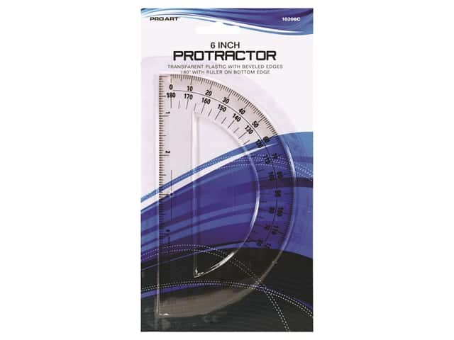 Pro Art Drafting Protractor 180 Degree 6 in.