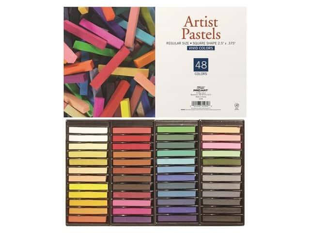 Pro Art Artist Pastel Square Basic Colors 48pc