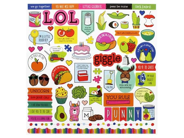 Photo Play 12 x 12 in. Sticker Sheet No Pun Intended