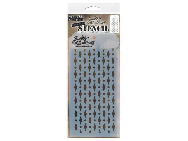 Stampers Anonymous Tim Holtz Layering Stencil - Diamond Dot