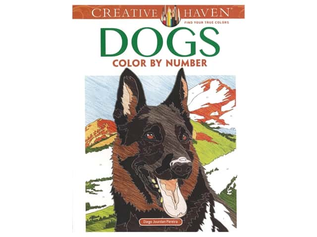 Dover Publications Creative Haven Dogs Color By Number Coloring Book