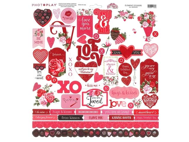 Photo Play 12 x 12 in. Sticker Sheet Be Mine