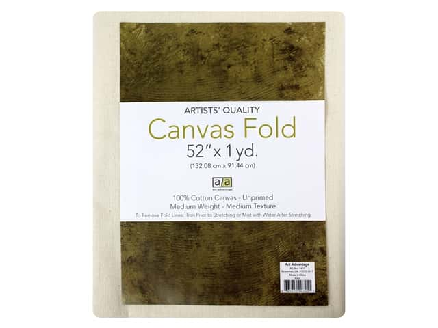 Art Advantage Canvas 52 in. x 1 yd Unprimed Folded
