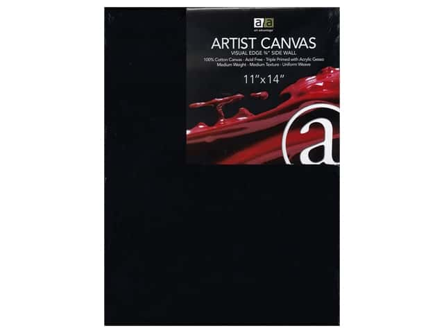 Art Advantage Artist Canvas 11 x 14 in. Black