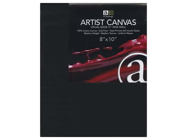 Art Advantage Artist Canvas 8 x 10 in. Black