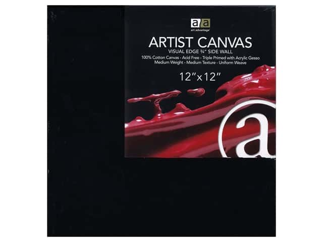 Art Advantage Artist Canvas 12 x 12 in. Black