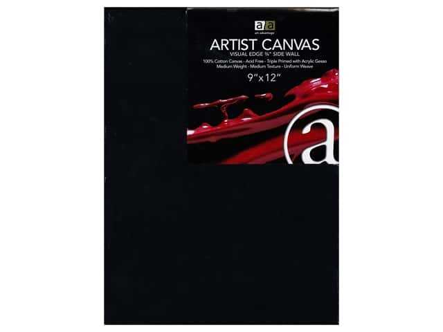 Art Advantage Artist Canvas 9 x 12 in. Black