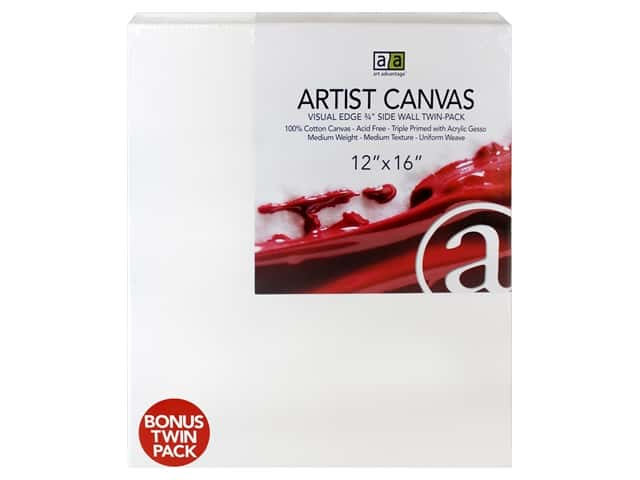 Art Advantage Artist Canvas 12 x 16 in. Twin Pack