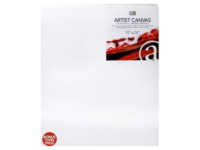 Art Advantage Artist Canvas 18 x 24 in. Twin Pack