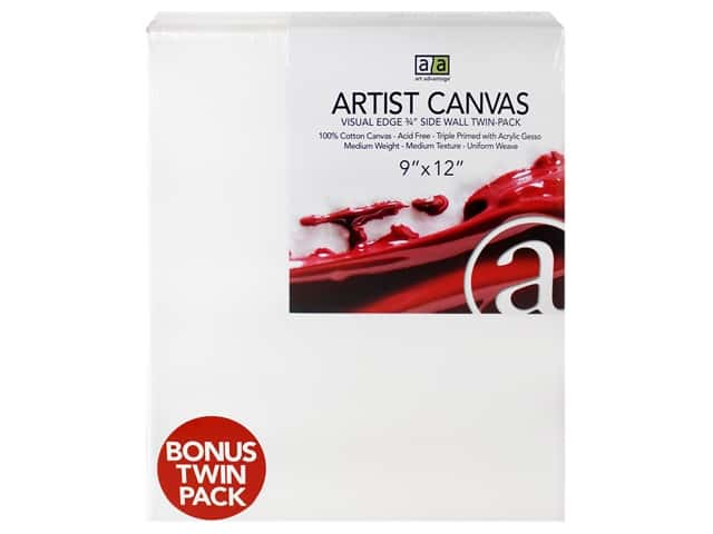 Art Advantage Artist Canvas 9 x 12 in. Twin Pack